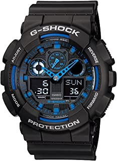 Casio G-Shock GA100-1A2 Ana-Digi Speed Indicator Black...