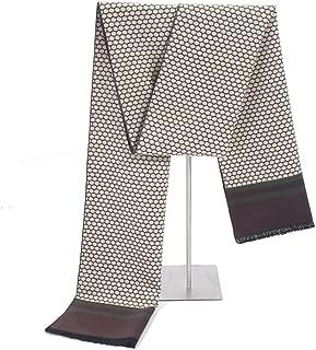 Scarf men fashion Winter Warm Honeycomb bee Tassel Cashmere Scarves Classic Plaid Shawls bufanda