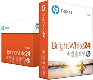 HP Printer Paper, BrightWhite24, 8.5 x 11 Paper, Letter Size, 24lb Paper, 97 Bright, 2,500 Sheets / 5 Ream Carton (203000C) Acid Free Paper
