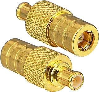 YILIANDUO DAB Antennenadapter SMB Buchse auf MCX Stecker gerade Stecker für DAB Radio Antenne RF Kabel Auto Radio Antenne DAB Antenne Verlängerung 2 Stück