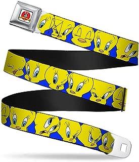 Buckle-Down Seatbelt Belt - Tweety Bird C/U Expressions Royal - 1.0