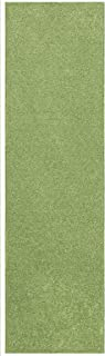 Home Queen Solid Lime Green Color Custom Size Runner 2' x 3' - Area Rug