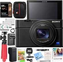 $1198 » Sony Cyber-Shot RX100 VII RX100M7 Premium Compact Camera DSC-RX100M7 Enhanced Bundle with Triple 3X Battery Pack + 64GB Memory Card + Deco Gear Travel Case Accessory Kit & Photo Video Software