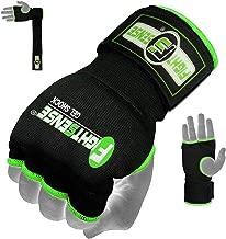 FIGHTSENSE Padded Gel Inner Gloves with Long Wraps for Boxing MMA Wrist Hand Wraps Muay Thai Under Gloves Training Pair