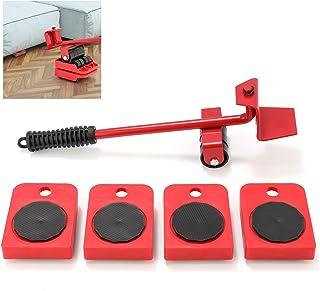 Shywall Lève-meubles, ensemble d'outils pour déplacer des objets lourds lève-meubles (tige rouge)