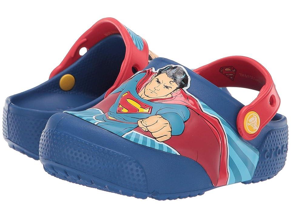 Crocs Kids CrocsFunLab Superman Lights Clog (Toddler/Little Kid) (Blue Jean) Boys Shoes