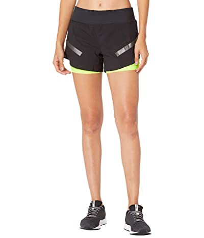 Brooks Carbonite 4 2-in-1 Shorts (Black) Women