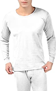 Peach Couture Mens Fleece Lined Stretch Warm Thermal Underwear Pajamas 2 Piece Set