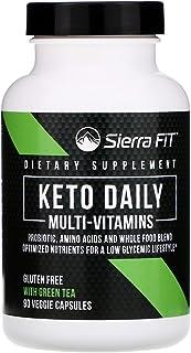 Sierra Fit Keto Daily Multi-Vitamins with Green Tea, 90 Veggie Capsules