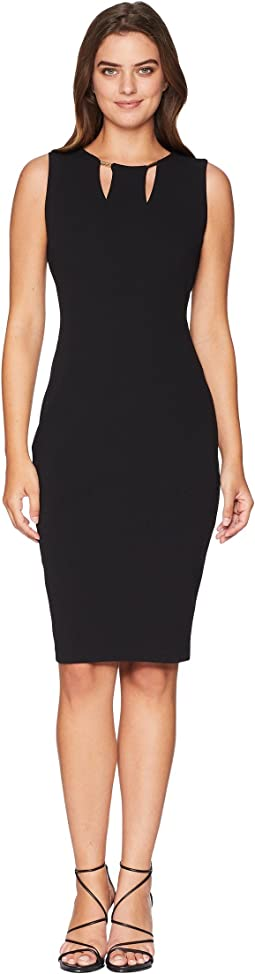 Sheath Dress with Hardware and Cut Out Detail CD8C16LF