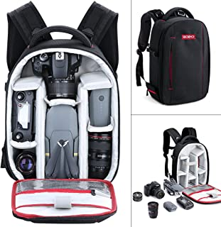 Camera Backpack, Beschoi Waterproof Lightweight DSLR Camera Bag for DSLR SLR Camera, Speedlite Flash, Tripod, Camera Lens and Accessories, Size 13 x 9.8 x 5.5