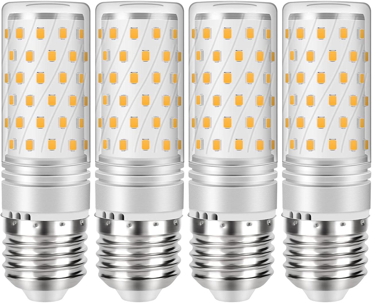 Gikkali LED E27 Luz Fria 6000k, 12W equivalentes a 120 W en Incandescencia, 1200 Lúmenes, Paquete de 4
