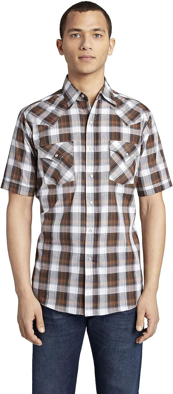 ELY CATTLEMAN 祝日 Men's Short 供え Western Plaid Shirt Sleeve