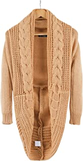 BerryGo Women's Batwing Sleeve High Low Knitted Cardigan Sweater
