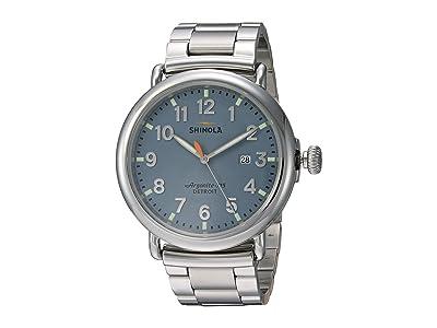Shinola Detroit The Runwell 47mm 20089902 (Polished Stainless Steel/Brushed Stainless Steel Bracelet) Watches