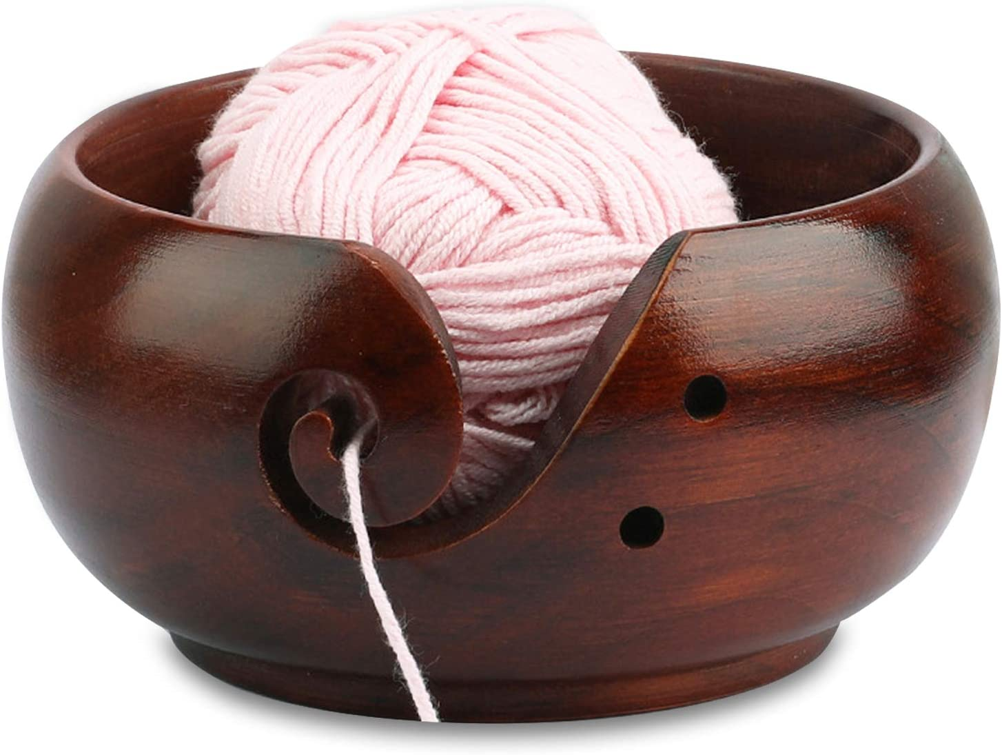 Yarn Bowl Wood Wooden Dallas Albuquerque Mall Mall for L Crochet Knitting