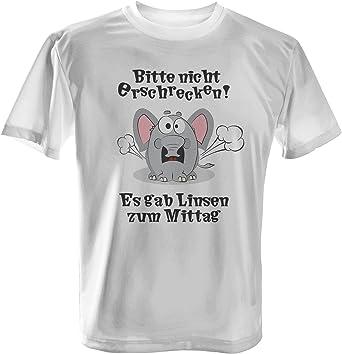 Nicht erschrecken Herren T-Shirt Fun Shirt Spruch Elefant Blähungen Lustig Neu