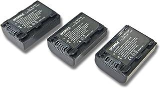 INTENSILO 3x Li-Ion batería 650mAh (7.2V) para cámara de video videocámara Sony Alpha DSLR-A330 DSLR-A330L por NP-FH50