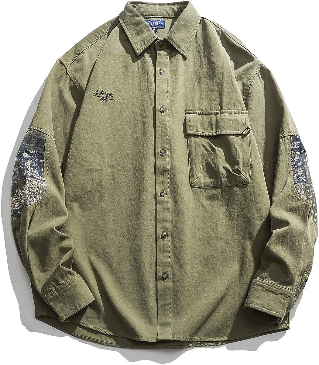 Seidarise Men's Casual Shirts, Button Down Shirts Long Sleeve Loose Fit Lightweight Tops