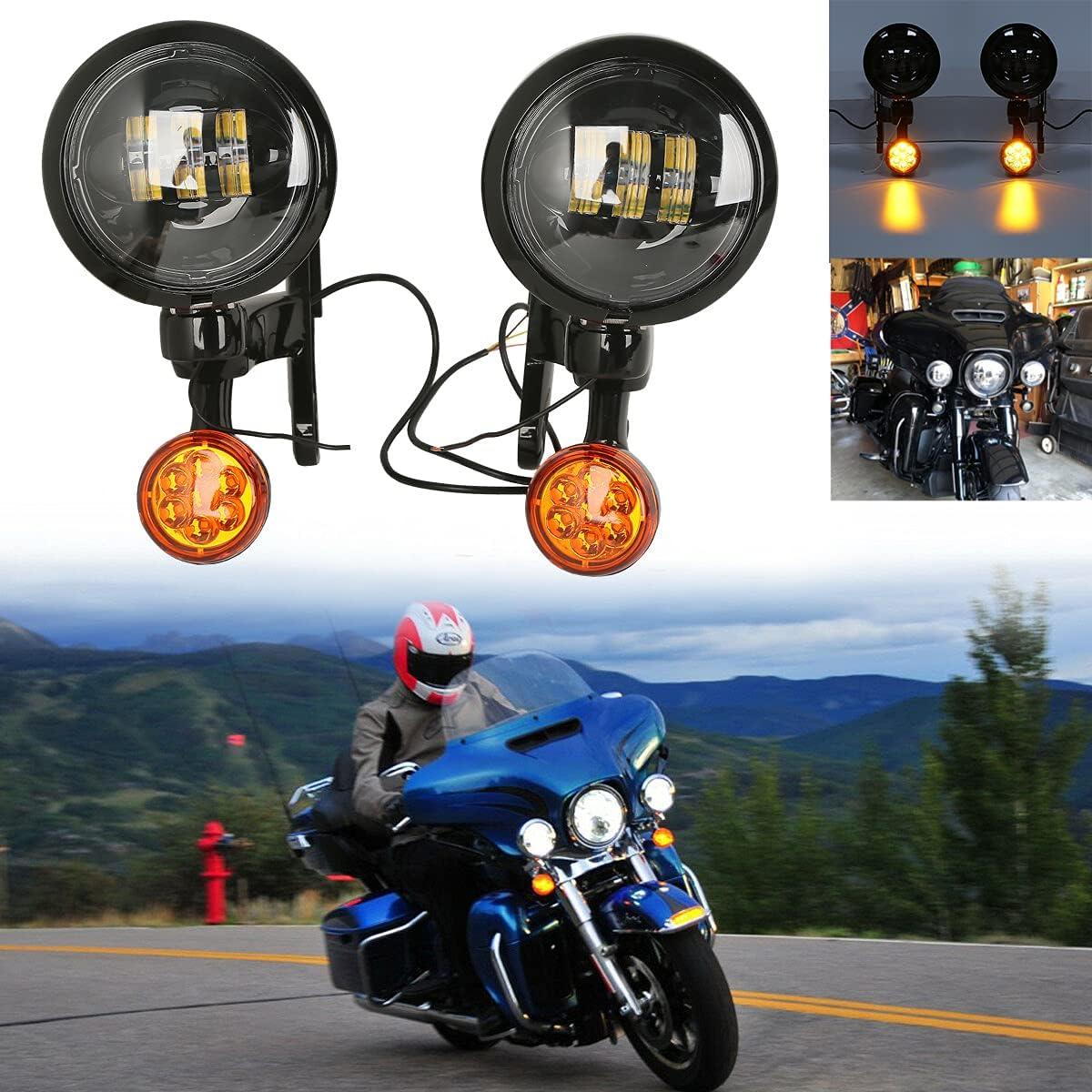 SLMOTO Spot Outlet ☆ Free Shipping Fog Light Bracket Turn Harley for Signal New York Mall Fit Touring