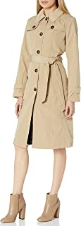 Women's Single Breasted Belted Trench with Hood