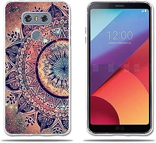 LG G6 H870 Funda TPU de Gel de Silicona, FUBAODA ,Lujoso Dibujo de un Mandala, Resistente a Golpes, Antipolvo, Resiste a los Arañazos, Carcasa Protectora de Goma de Calidad Superior para LG G6 H870
