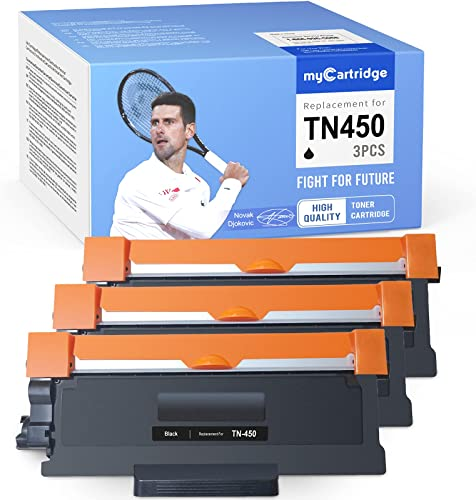 lowest MYCARTRIDGE Compatible Toner Cartridge Replacement for Brother TN450 TN420 new arrival TN-450 TN-420 for HL-2270DW HL-2240 HL-2280DW MFC-7860DW IntelliFax 2840 lowest MFC-7360N DCP-7060D HL-2240D MFC-7365DN (3 Black) sale