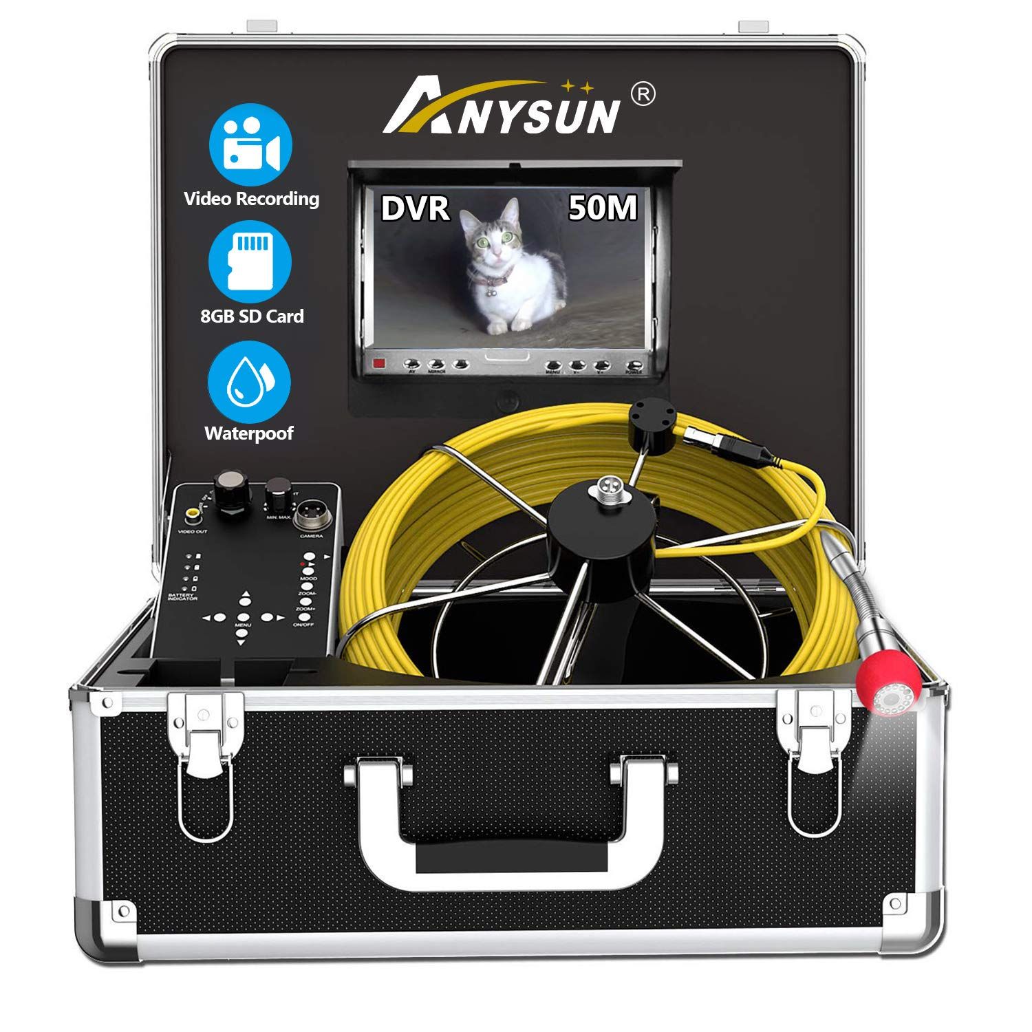 Ranking TOP14 Sewer Pipe Inspection Camera Anysun 165ft 50M IP68 P Waterproof 67% OFF of fixed price