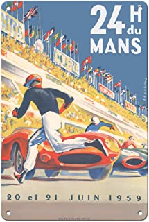 Pacifica Island Art 1959 Grand Prix - 24 Hours of Le Mans France - Endurance Racing - Vintage Car Racing Poster by Michel ...