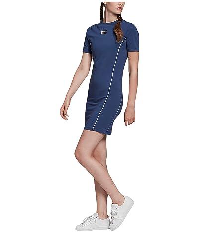 adidas Originals Tee Dress (Tech Indigo) Women