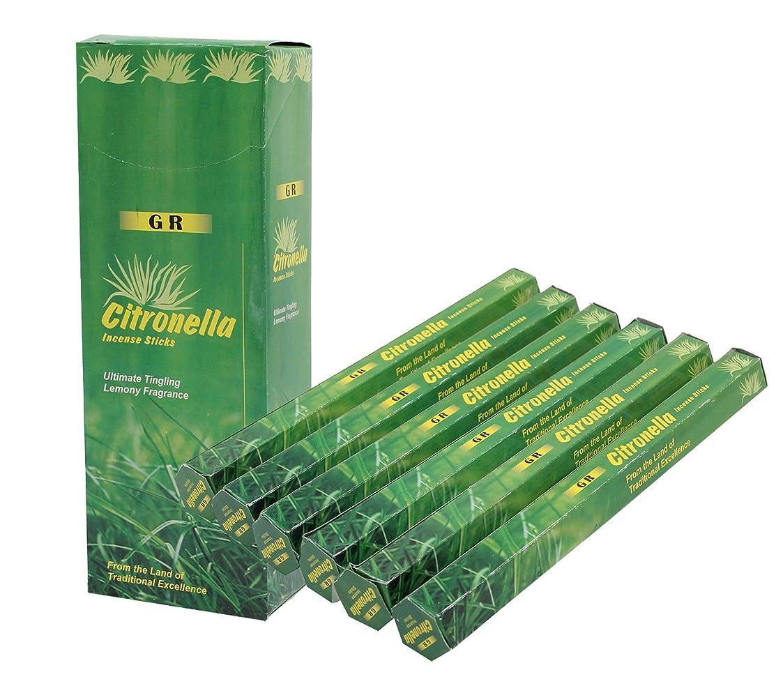 のど感覚回転させるDharmaObjectsシトロネラ香6ボックス120?Incense Sticks