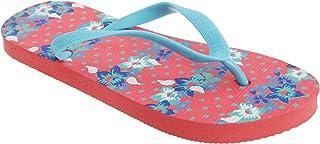 FLOSO Womens/Ladies Floral Patterned Toe Post Flip Flops