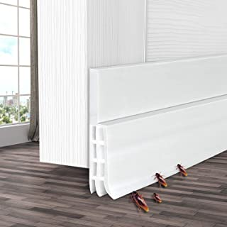 Door Sweeps, Ohuhu Door Draft Stopper, Weather Stripping for Doors, Under Door Draft Blocker, Door Seal Strip, Draft Stoppers for Bottom of Doors Soundproof Wind Blocker, 39