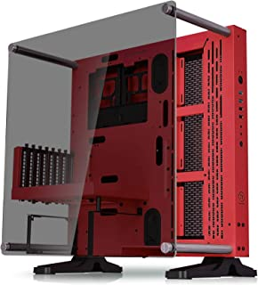 Thermaltake Core P3 ATX Tempered Glass Gaming Computer Case Chassis, Open Frame Panoramic Viewing, Glass Wall-Mount, Riser Cable Included, Red Edition, CA-1G4-00M3WN-03
