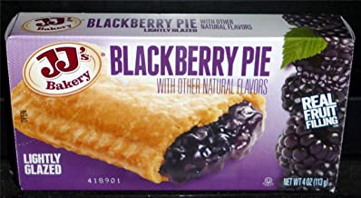 JJ's Bakery Lightly Glazed Snack Pies 4oz (Pack of 12) (Blackberry)