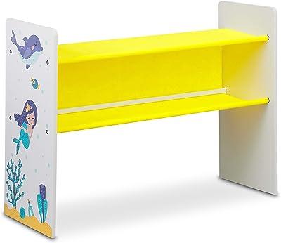 Relaxdays Etagère Enfants, 9 boîtes en Tissu, Motif sirène, Meuble pour Jouets, HxlxP 66x82,5x29,5 cm,coloré, Panneau de Particules, 1 élément