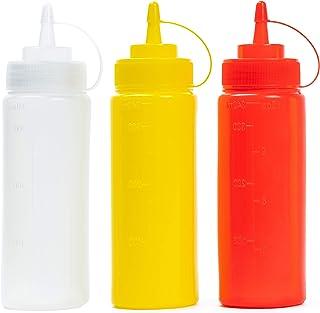 ADUSA Dip Clip Bianco Rosso 2 Pezzi Un Supporto per Salsa per Auto per Ketchup e Salse da Immersione.
