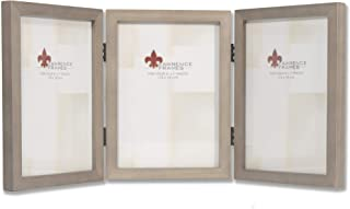 Lawrence Frames 5x7 Hinged Triple Gray Wood Gallery Collection Picture Frame, 5x7T