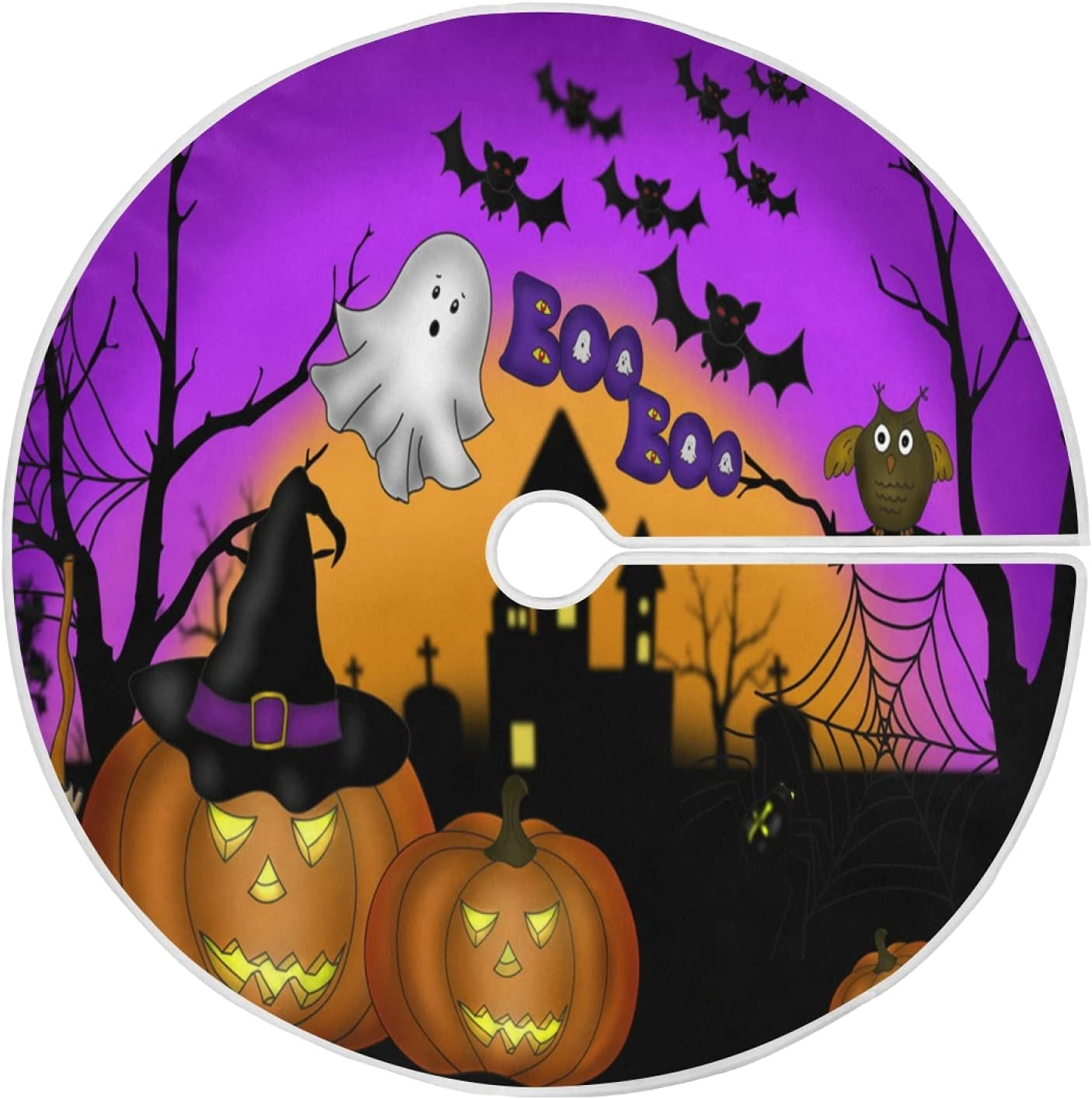 Halloween Tree Skirt Pumpkin Christmas Scary Max 64% OFF 5 popular Ghost Ni