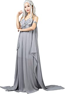 CosFantasy Daenerys Targaryen Khaleesi Cosplay Costume Long Chiffon Dress mp004184