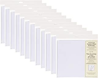 DesignOvation Postbound 12x12 Memory Scrapbook Refill Pages 5 Pack, Set of 12