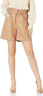 Women's Vegan Leather Paperbag Shorts