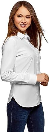 oodji Ultra Femme Chemise Basique en Coton