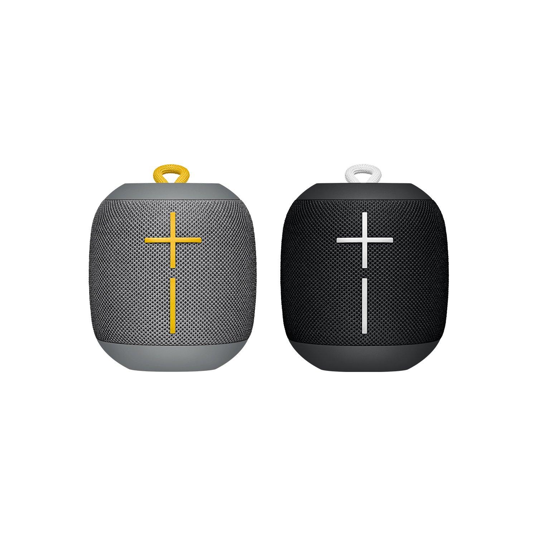 Ultimate Ears WONDERBOOM蓝牙音箱防水双连接 - 黑色和灰色,每包2个
