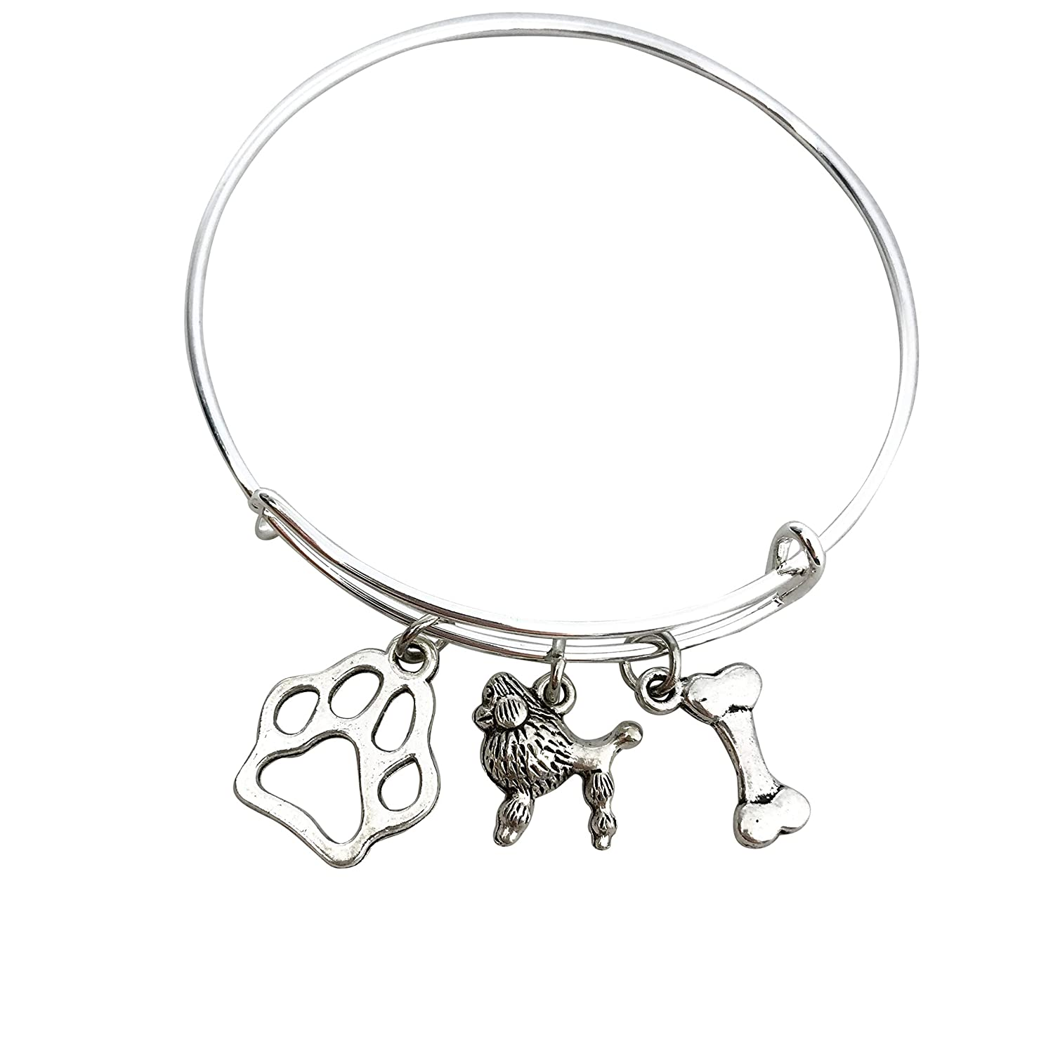 Poodle Jewelry for Women Dog Mom paw print gifts Bracelet bone New mail order Fort Worth Mall