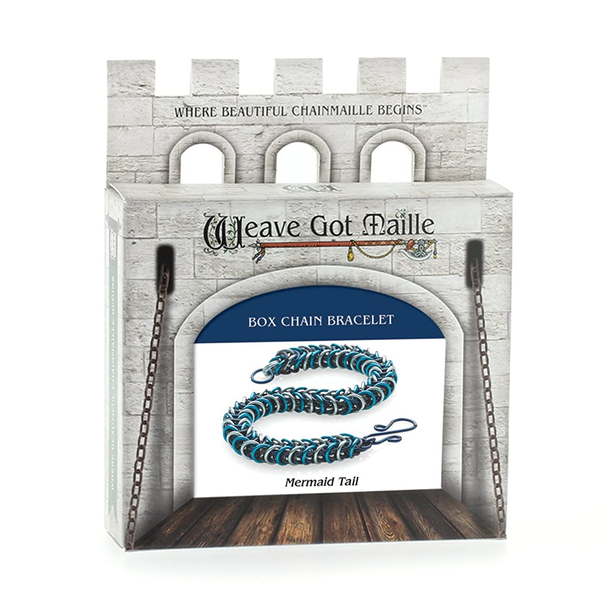 Weave Got Maille Box Weave Chain Maille Bracelet Kit, Mermaid Tail