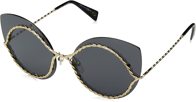 Marc Jacobs Women's Marc161s Polarized Cateye Sunglasses, gold, 61 mm