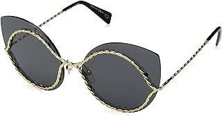 Marc Jacobs Women's Marc 161/S IR J5G 61 Sunglasses, (Gold/Grey Blue)