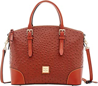 Ostrich Domed Satchel