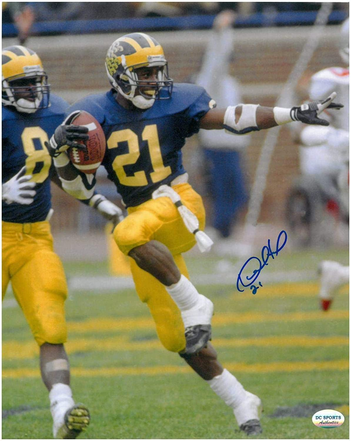 Autographed Desmond Howard Picture  8x10 1 The Heisman Pose  Autographed College Photos